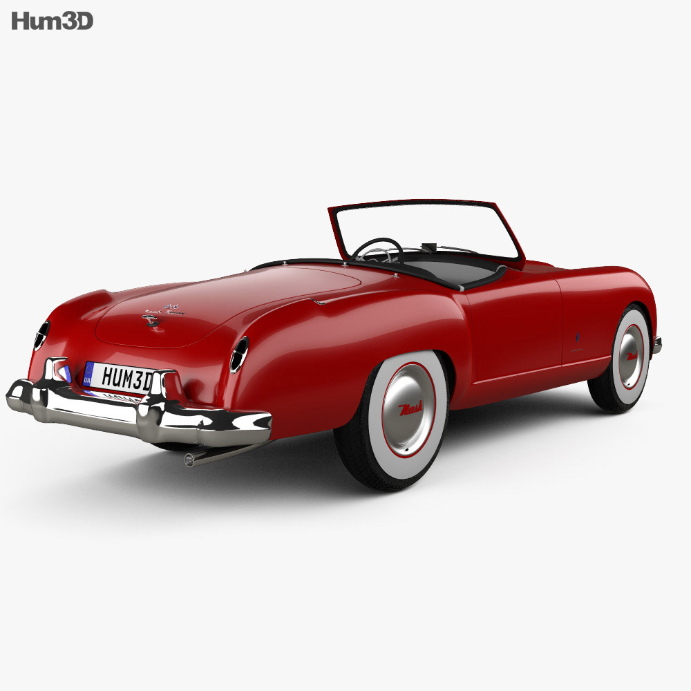 Nash Healey Roadster 1952 3d model