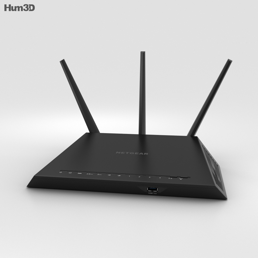 3D model of NetGear AC1900 Wi-Fi Router