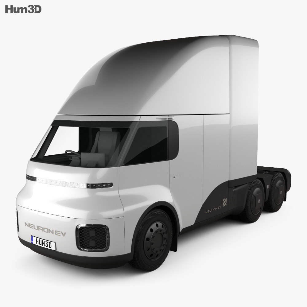 Neuron EV TORQ Tractor Truck 2020 3d model