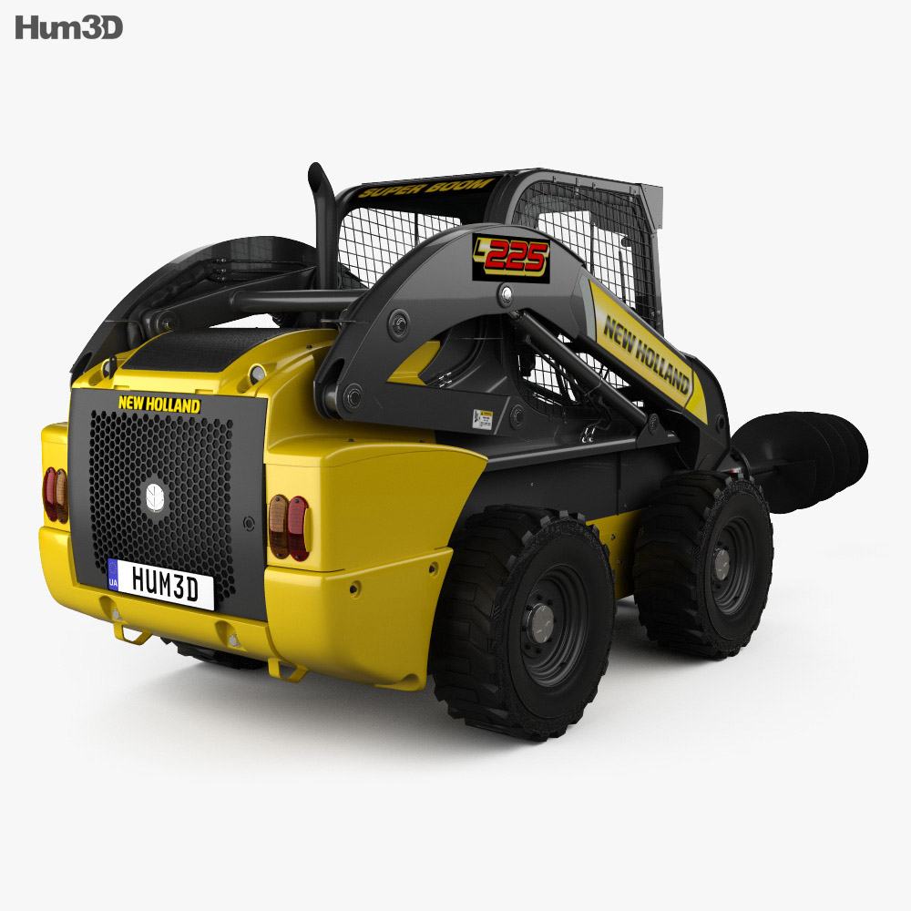 New Holland L225 Skid Steer Auger 2017 3d model