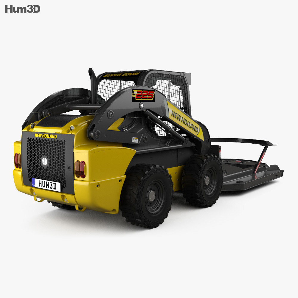 New Holland L225 Skid Steer Brush Cutter 2017 3d model