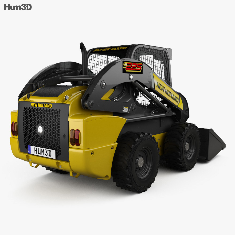 New Holland L225 Skid Steer Loader 2017 3d model