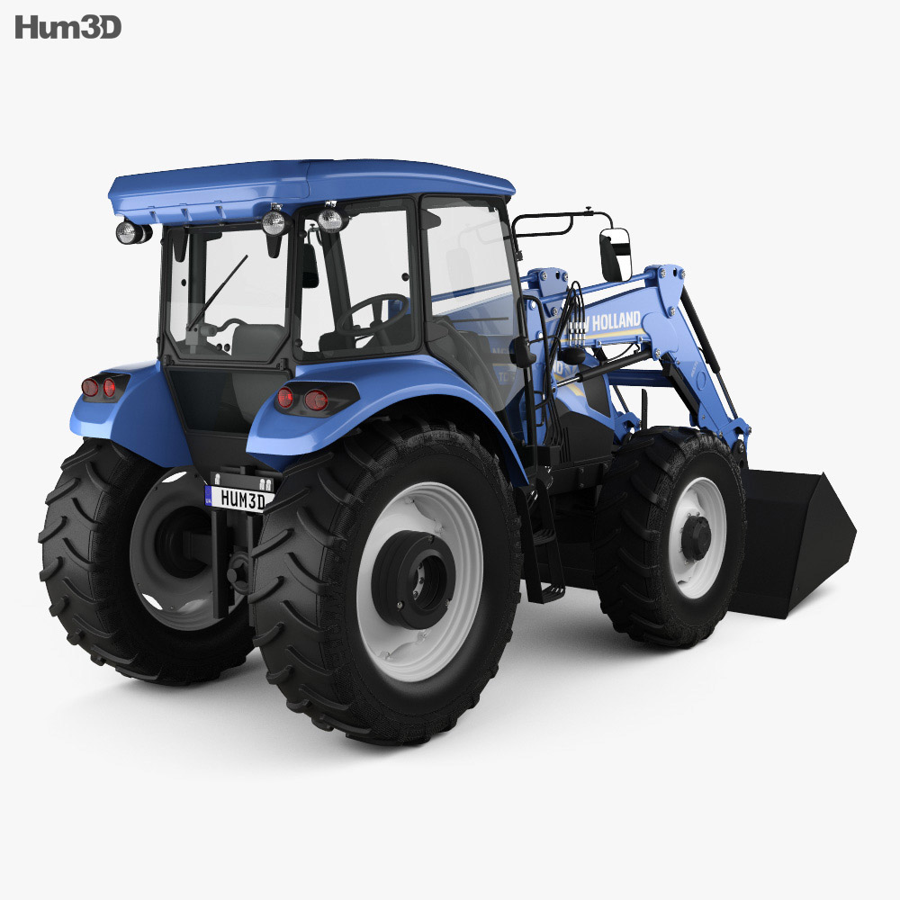 New Holland TD5 Loader Tractor 2017 3d model