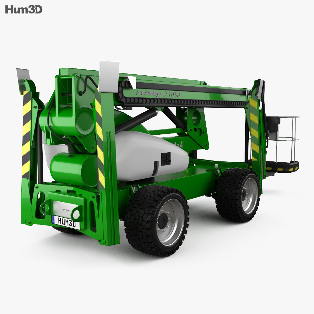Nifty SD210 4x4x4 Self Drive Work Platform 2018 3d model