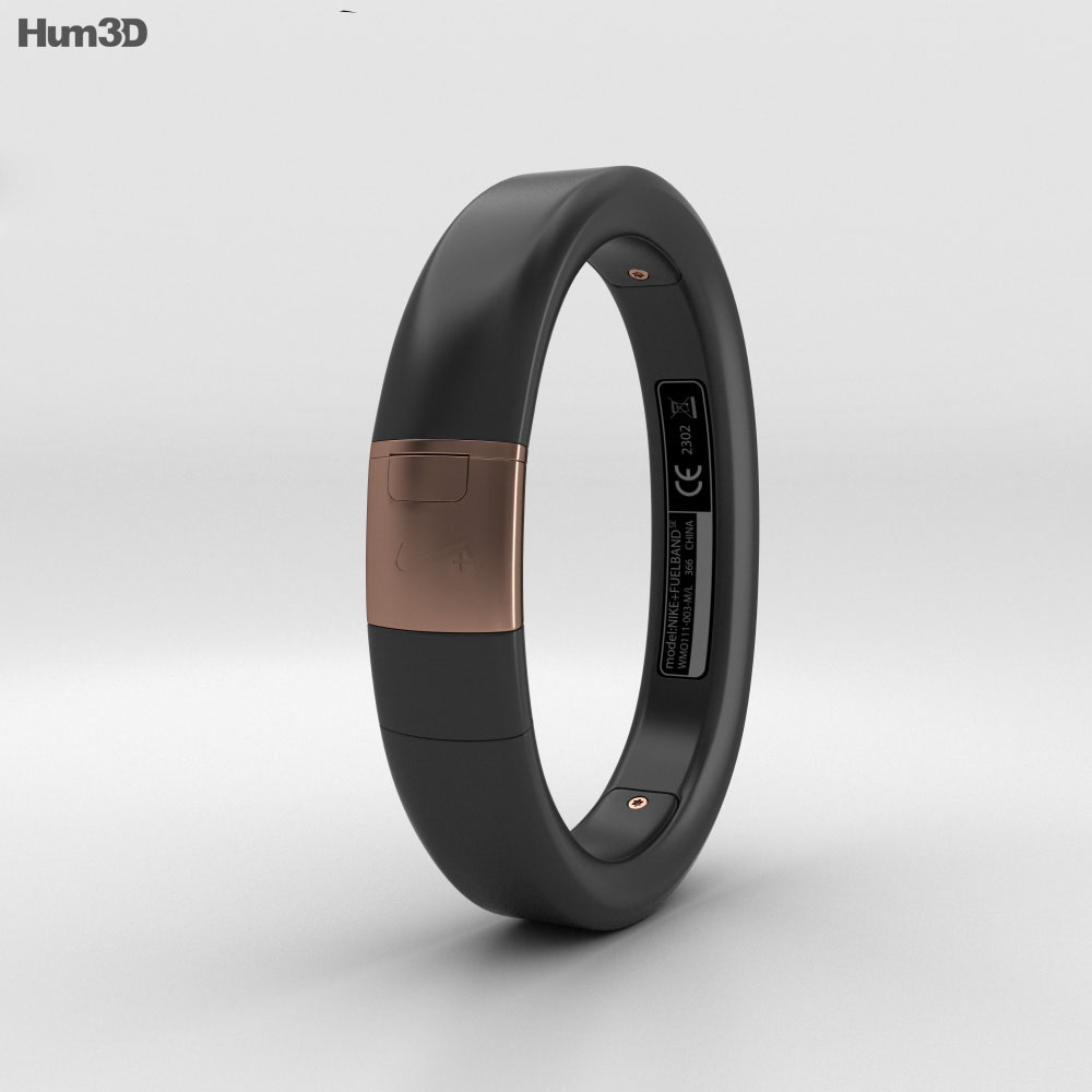Nike+ FuelBand SE Metaluxe Limited Rose Gold Edition 3d model