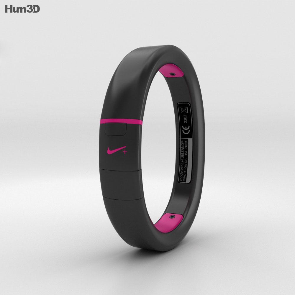 Nike+ FuelBand SE Pink Foil 3d model