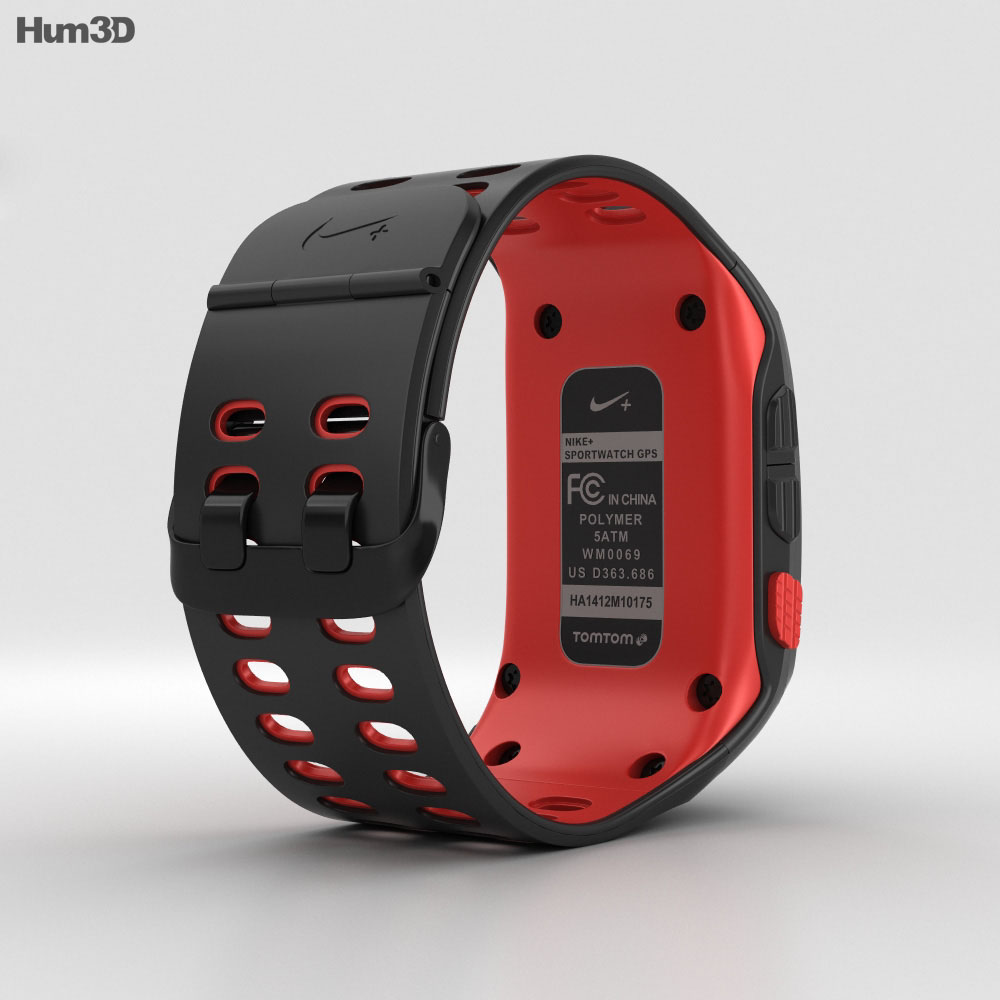Nike+ SportWatch GPS Black/Red 3d model