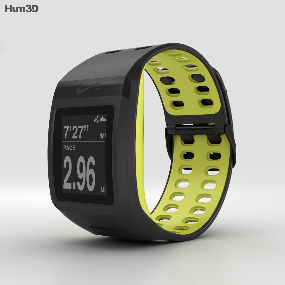 Nike+ SportWatch GPS Black/Volt 3d model