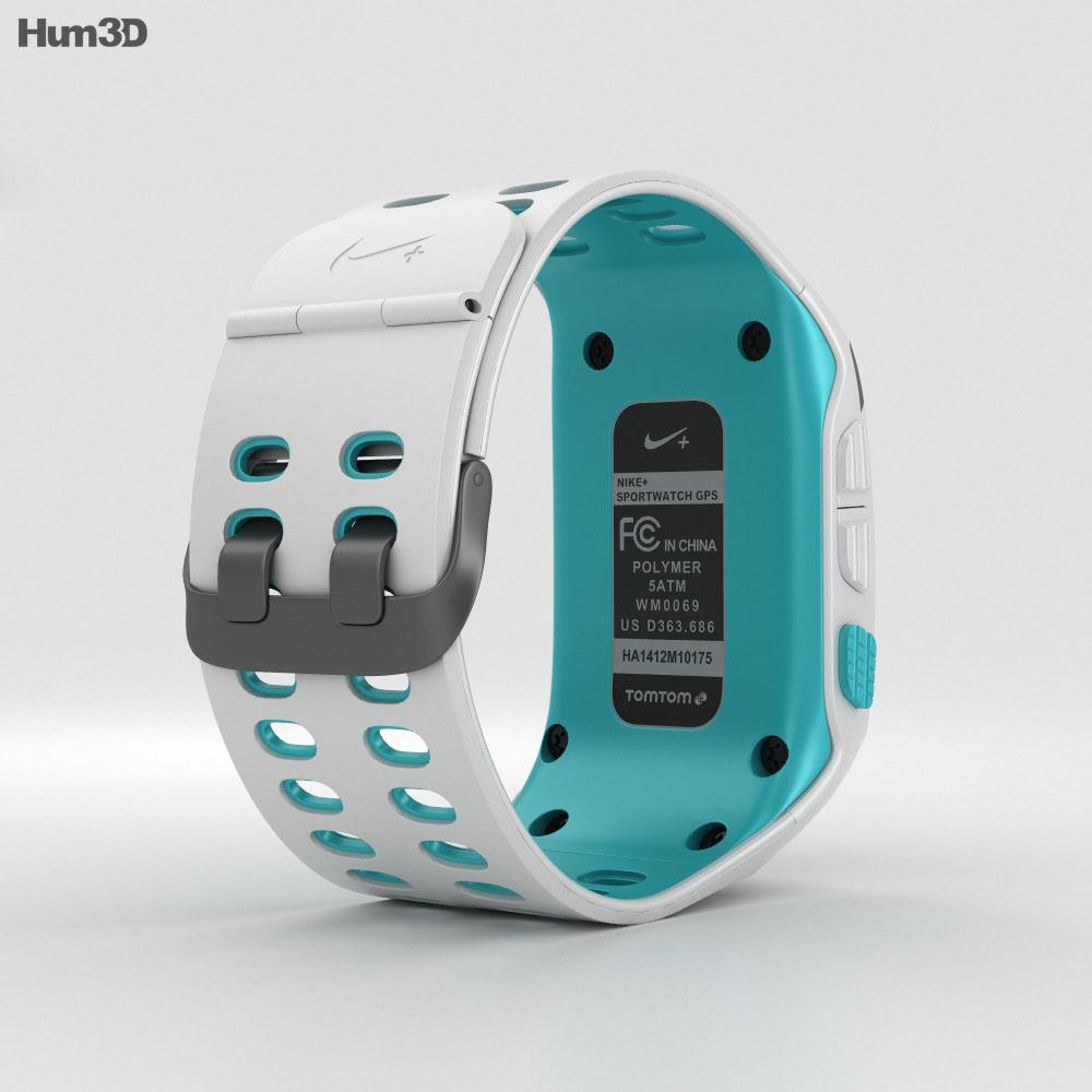 Nike+ SportWatch GPS White/Sport Turquoise 3d model