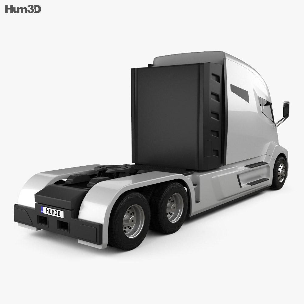 Nikola One Tractor Truck 2016 3d model