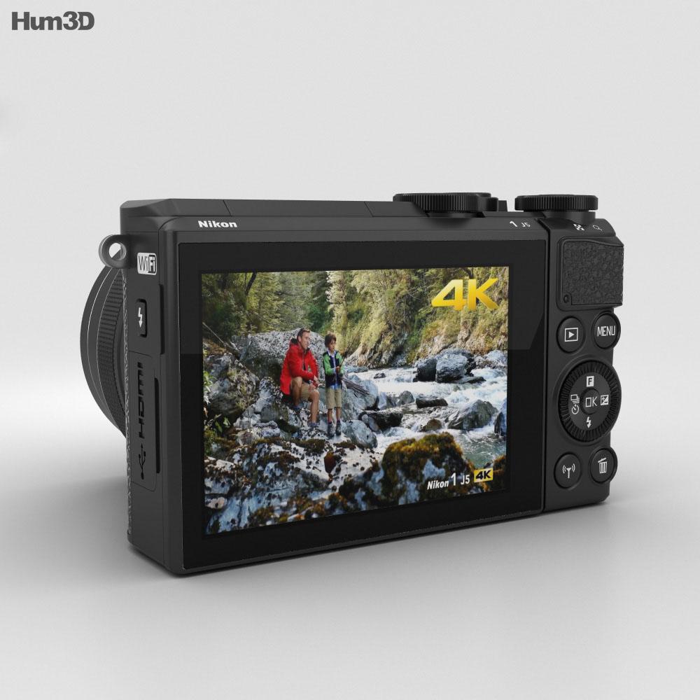 Nikon 1 J5 黑色的 3D模型