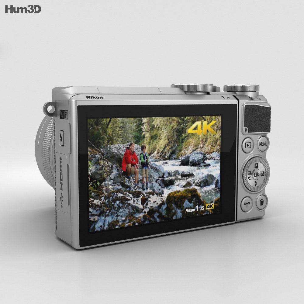 Nikon 1 J5 Silver 3d model