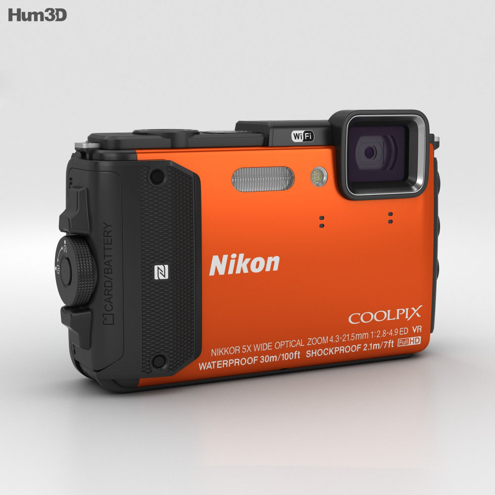 Nikon Coolpix AW130 Orange 3d model