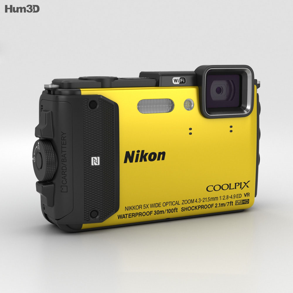 Nikon Coolpix AW130 Yellow 3d model