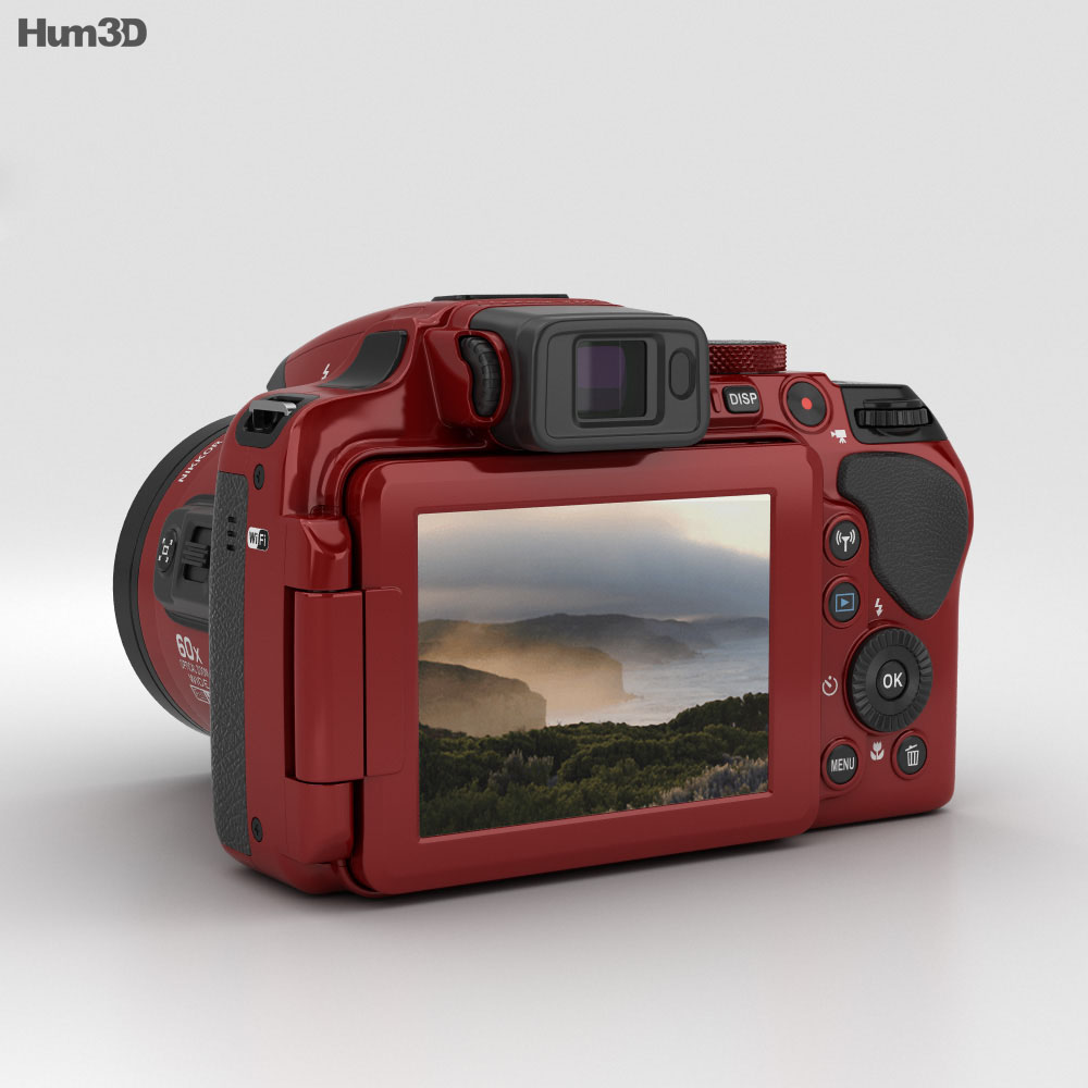 Nikon Coolpix P610 Red 3d model