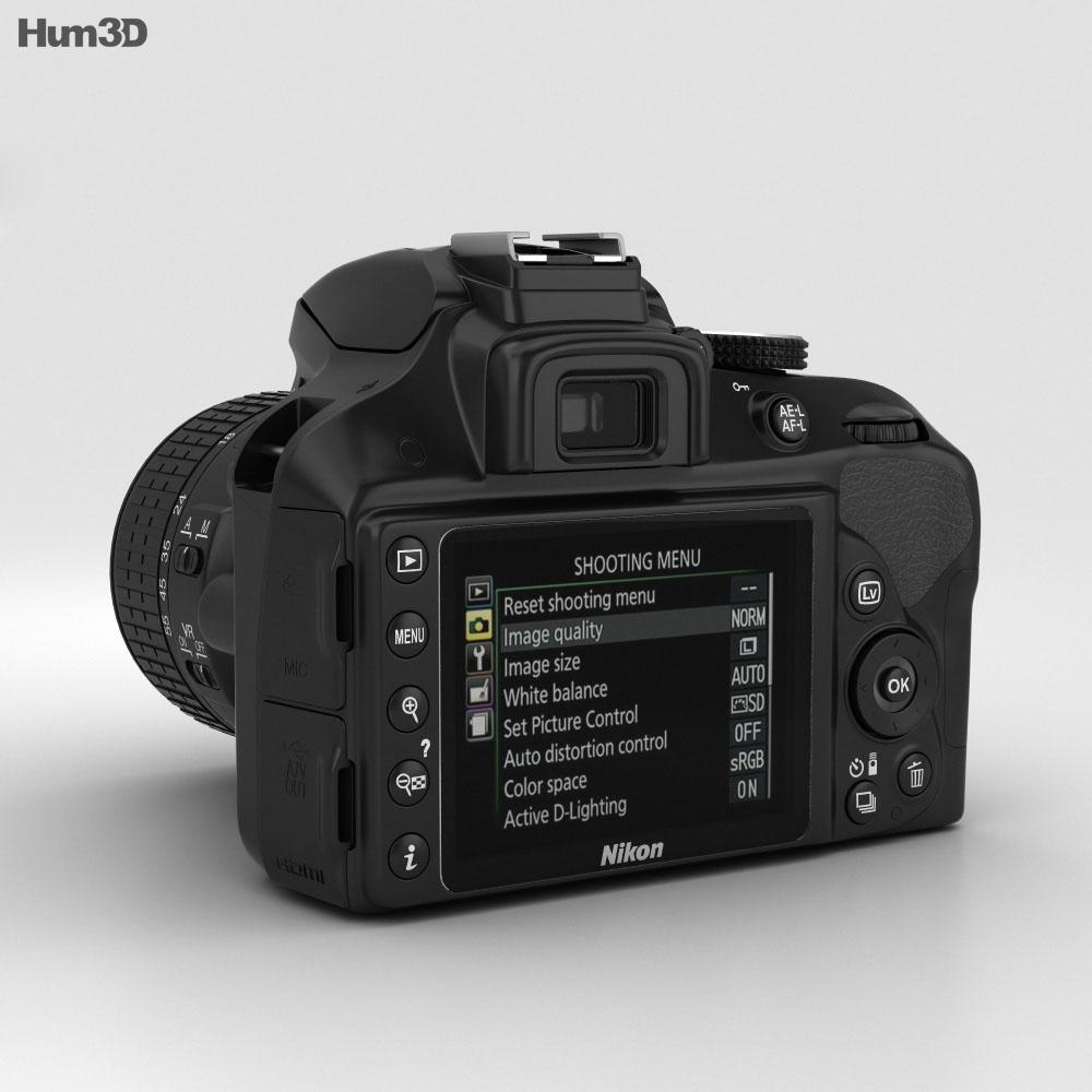 Nikon D3300 3d model