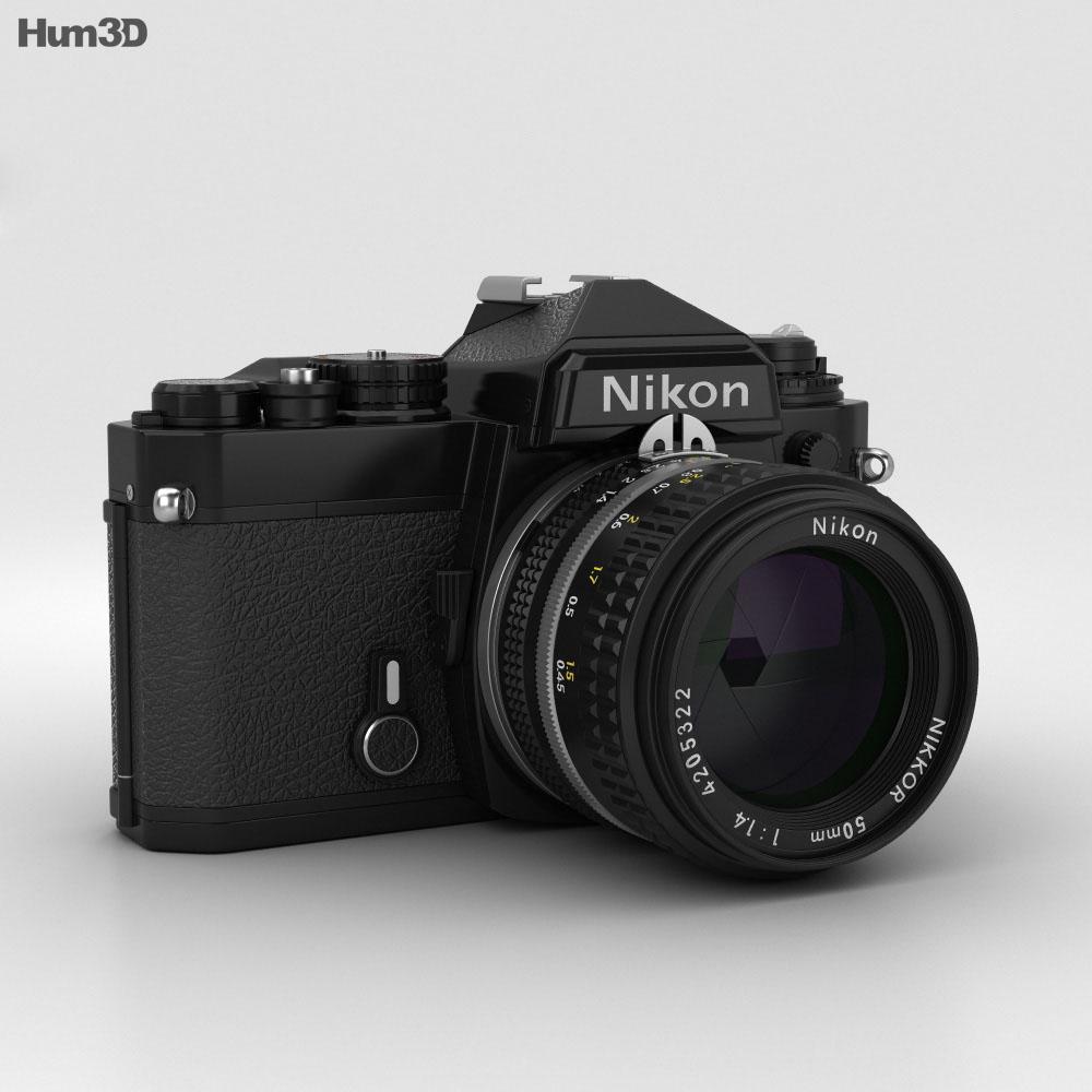 Nikon FE Black 3d model