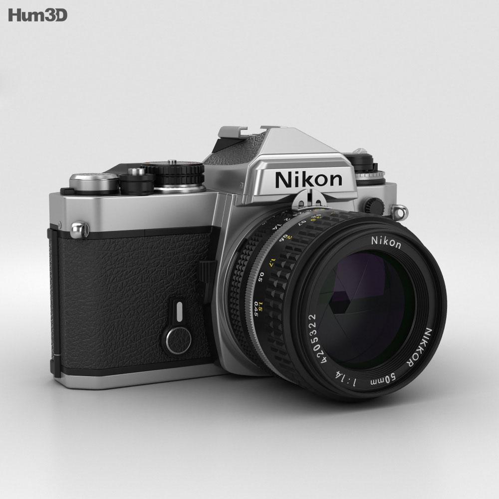 Nikon FE Silver 3d model
