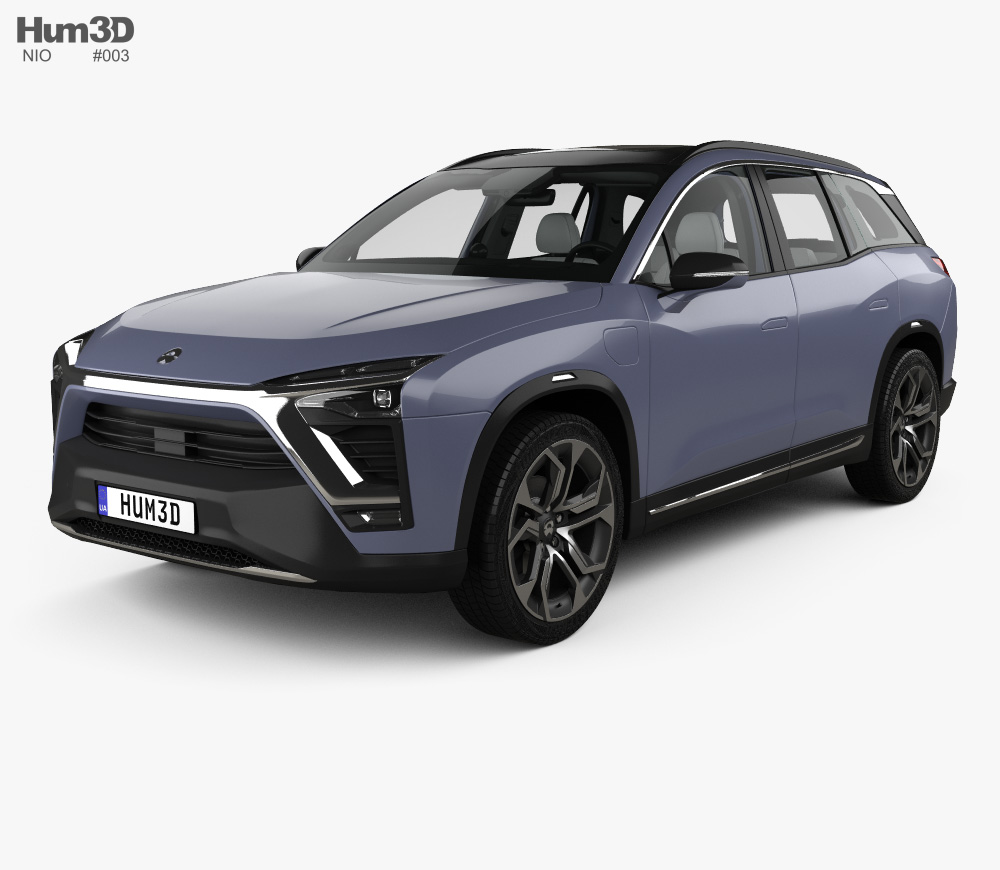 Nio Es8 With Hq Interior 2018 3d Model Hum3d