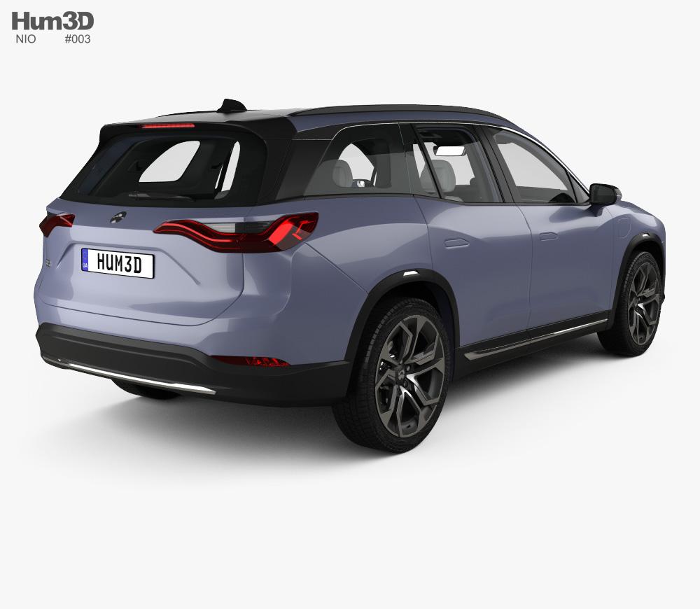 Nio ES8 with HQ interior 2018 3d model