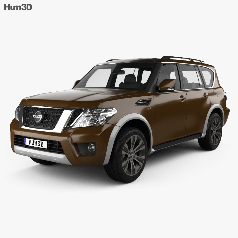 Nissan Armada 2017 3d model