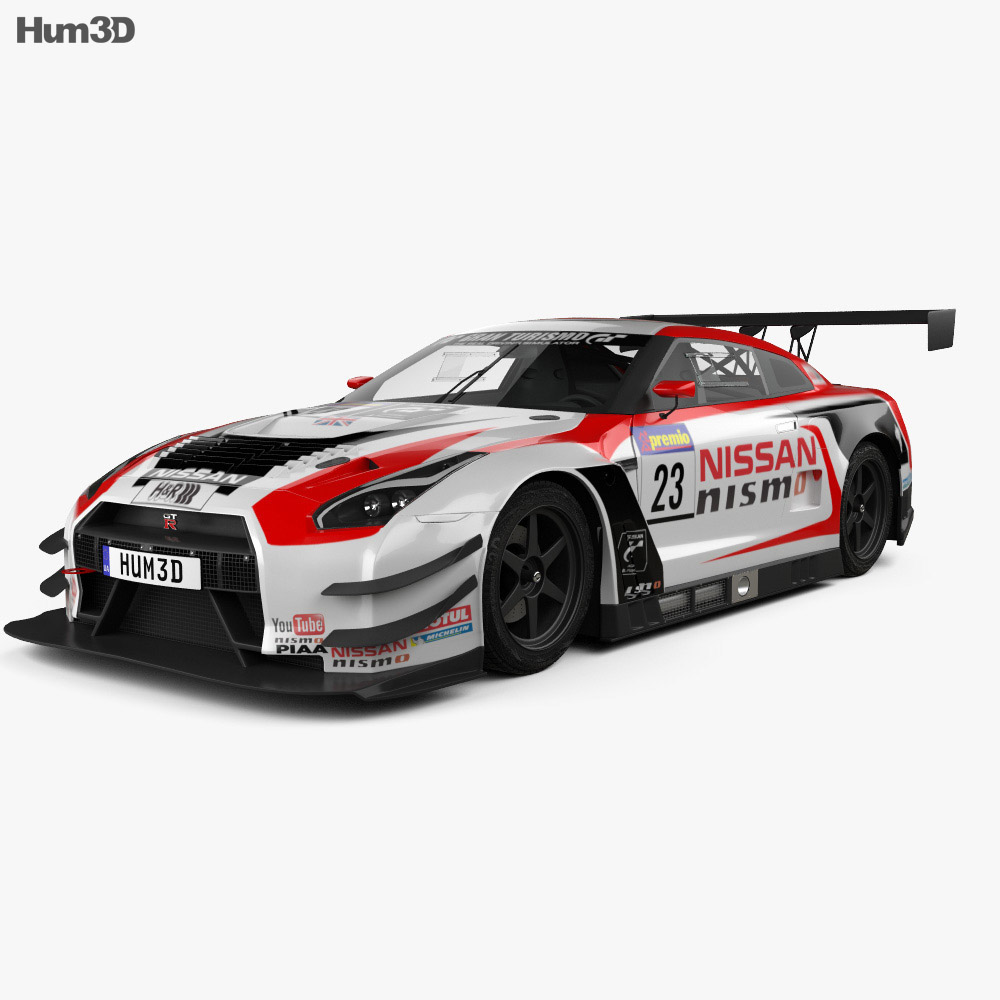 nissan gt r nismo gt300 2015 3d model humster3d. Black Bedroom Furniture Sets. Home Design Ideas