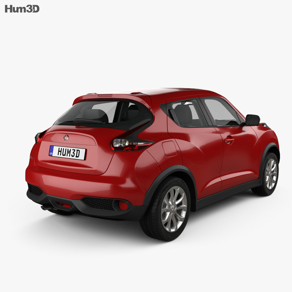 Nissan Juke with HQ interior 2015 3d model