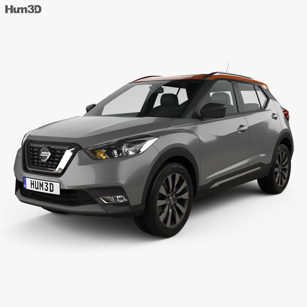 nissan kicks 2017 3d model vehicles on hum3d. Black Bedroom Furniture Sets. Home Design Ideas