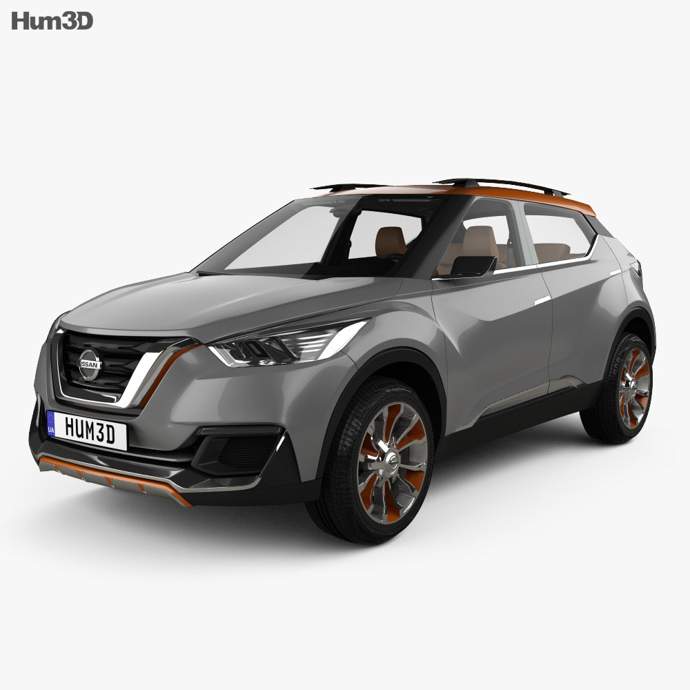 Nissan Kicks concept with HQ interior 2014 3d model