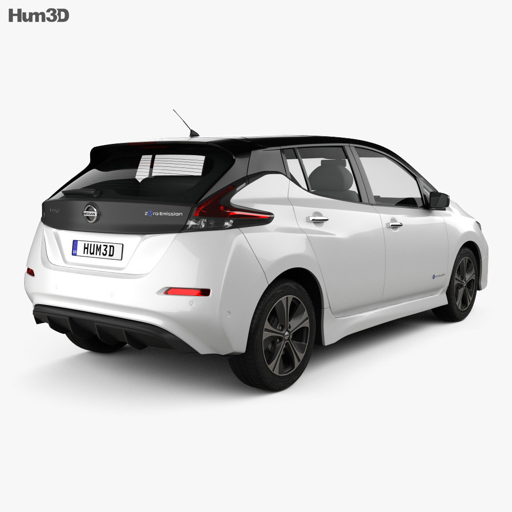 nissan leaf 2018 3d model vehicles on hum3d. Black Bedroom Furniture Sets. Home Design Ideas