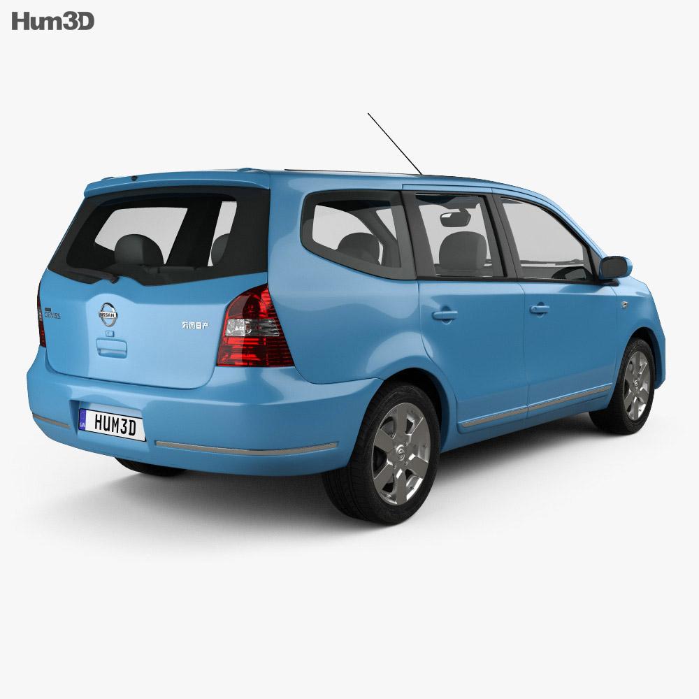 Nissan Livina Geniss 2006 3d model