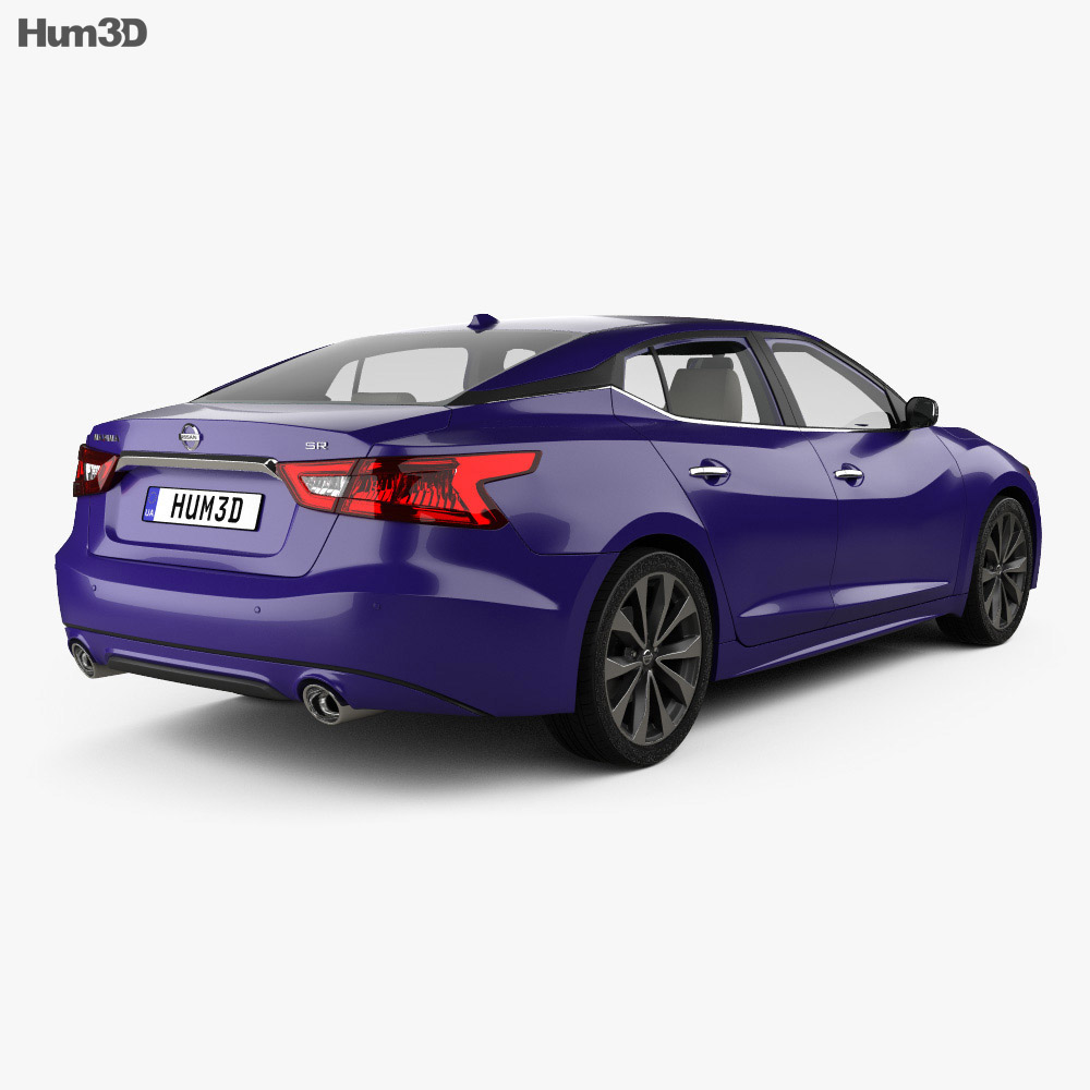 Nissan Maxima with HQ interior 2016 3d model