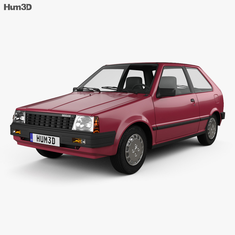 Nissan Micra 3-door 1982 3d model