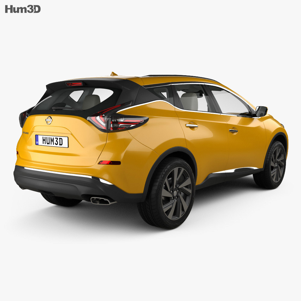 Nissan Murano (Z52) with HQ interior 2014 3d model