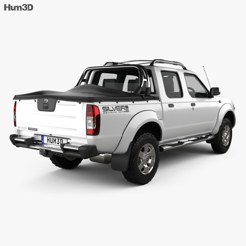 Nissan Navara (NP300) Double Cab Hardbody Silver 2013 3d model