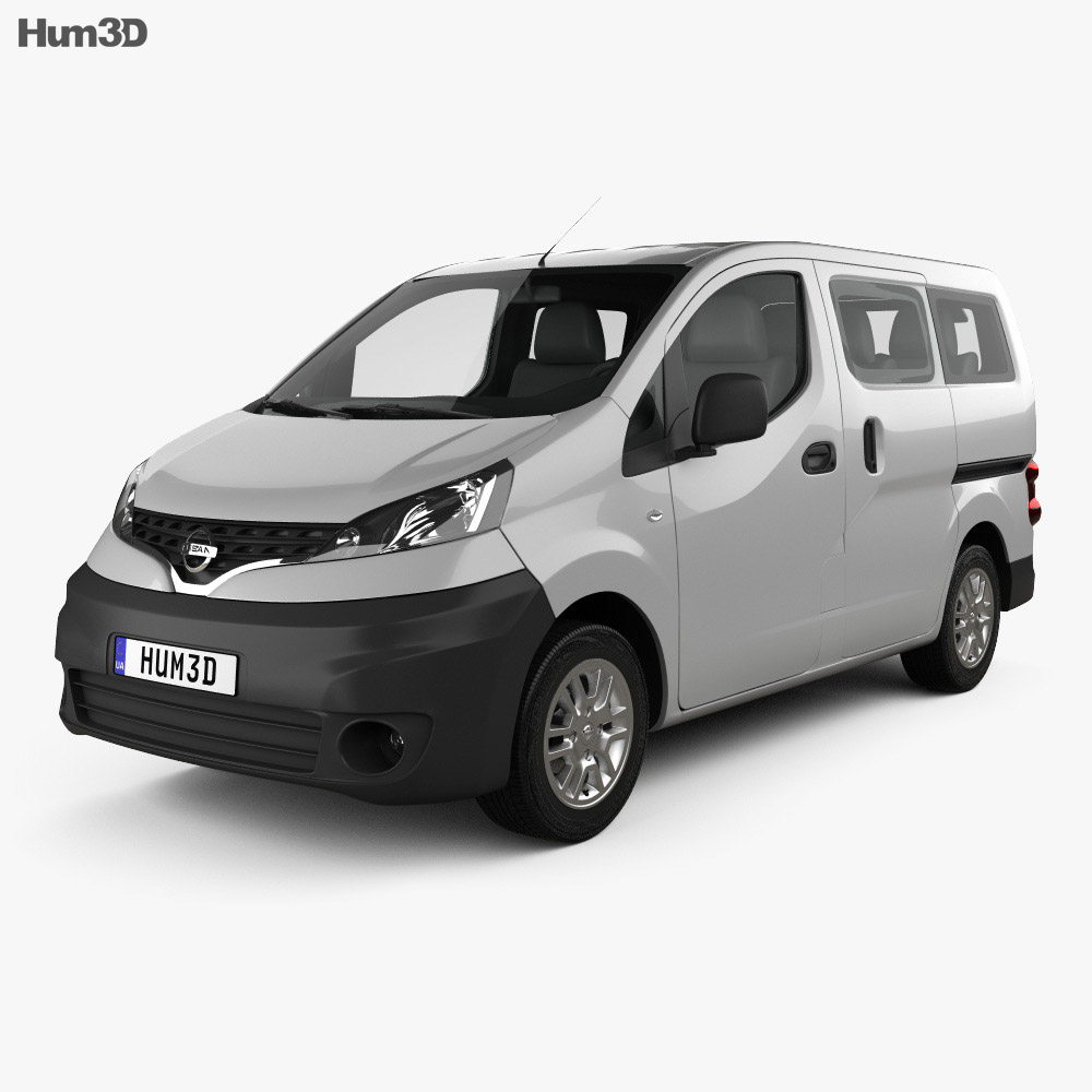 nissan nv200 combi 2011 3d model vehicles on hum3d. Black Bedroom Furniture Sets. Home Design Ideas