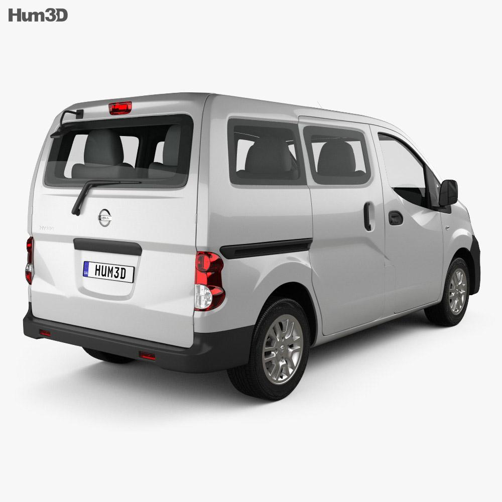 nissan nv200 combi 2011 3d model vehicles on hum3d. Black Bedroom Furniture Sets. Home Design Ideas