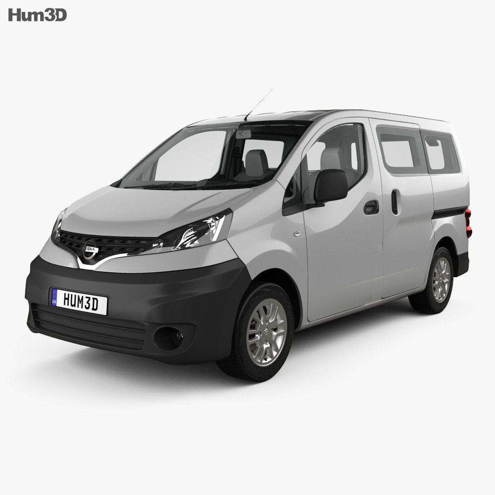 nissan nv200 combi with hq interior 2011 3d model. Black Bedroom Furniture Sets. Home Design Ideas