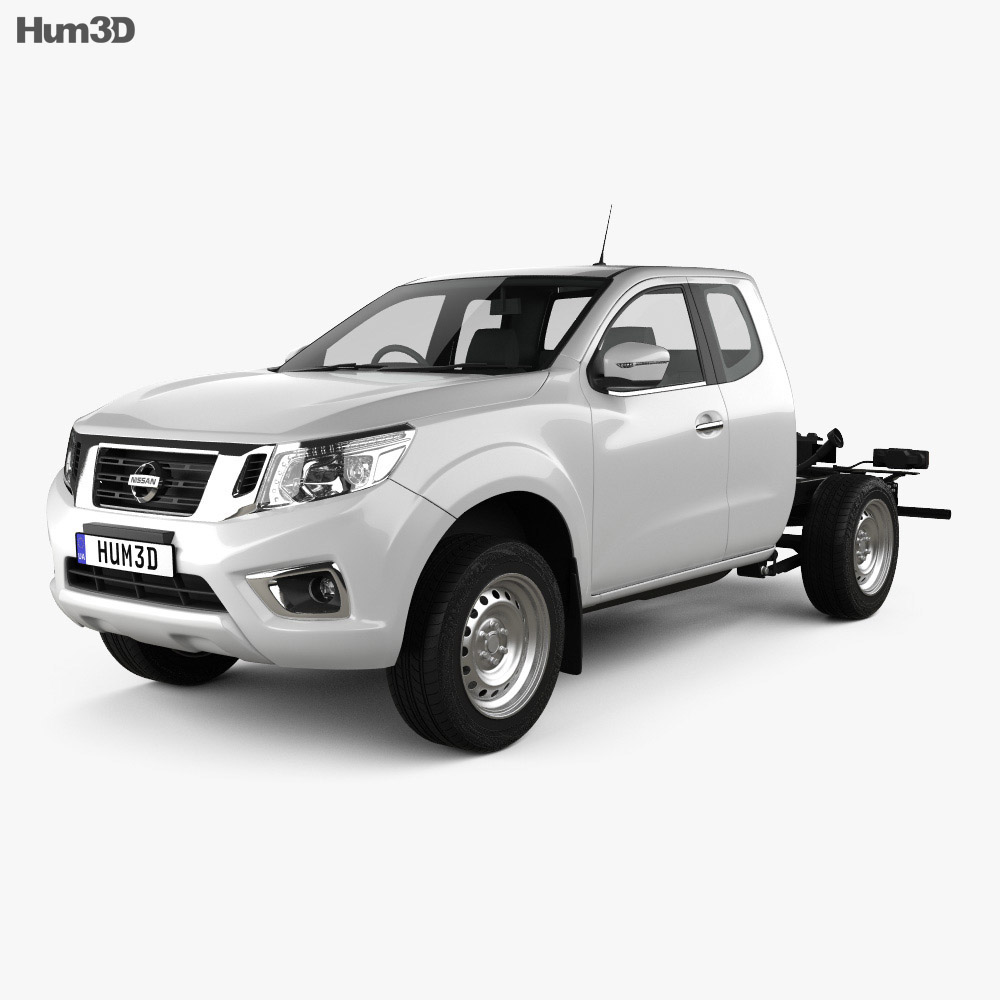 Nissan Navara King Cab Chassis 2015 3d model