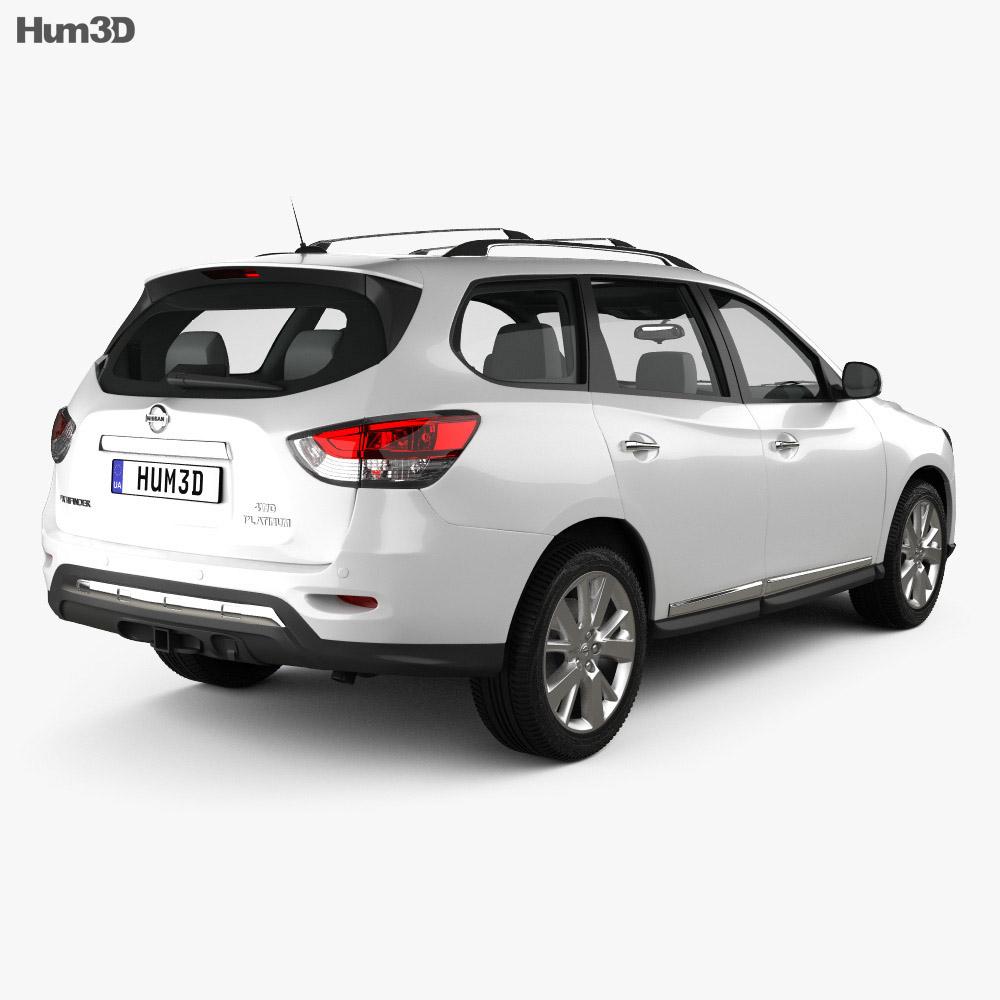 Nissan Pathfinder con interni 2013 Modello 3D vista posteriore