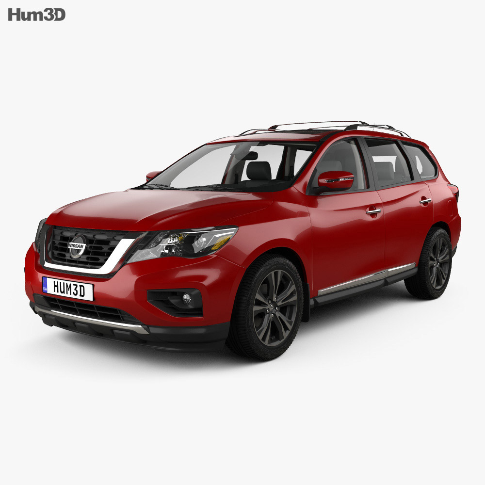 Nissan Pathfinder with HQ interior 2017 3d model