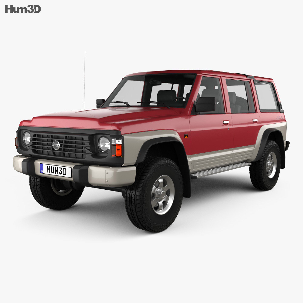 nissan patrol y60 5 door 1987 3d model vehicles on hum3d. Black Bedroom Furniture Sets. Home Design Ideas