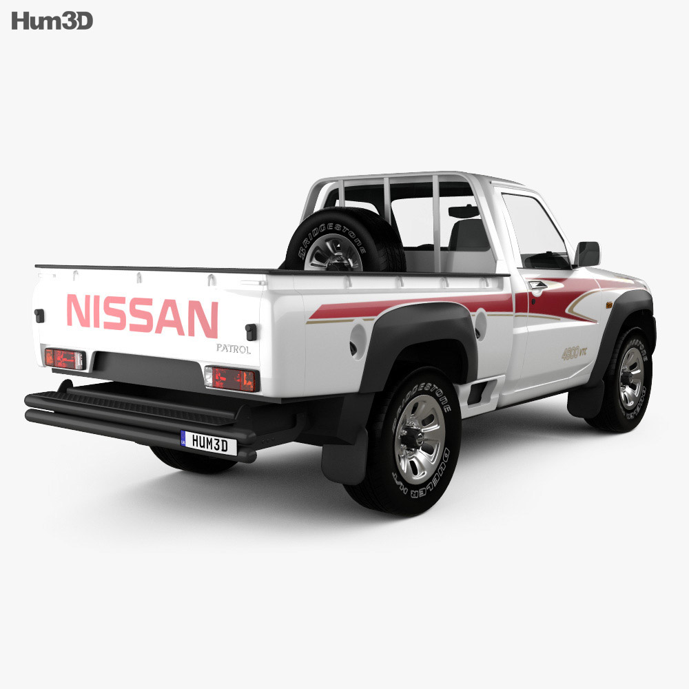 Nissan Patrol pickup 2016 3d model