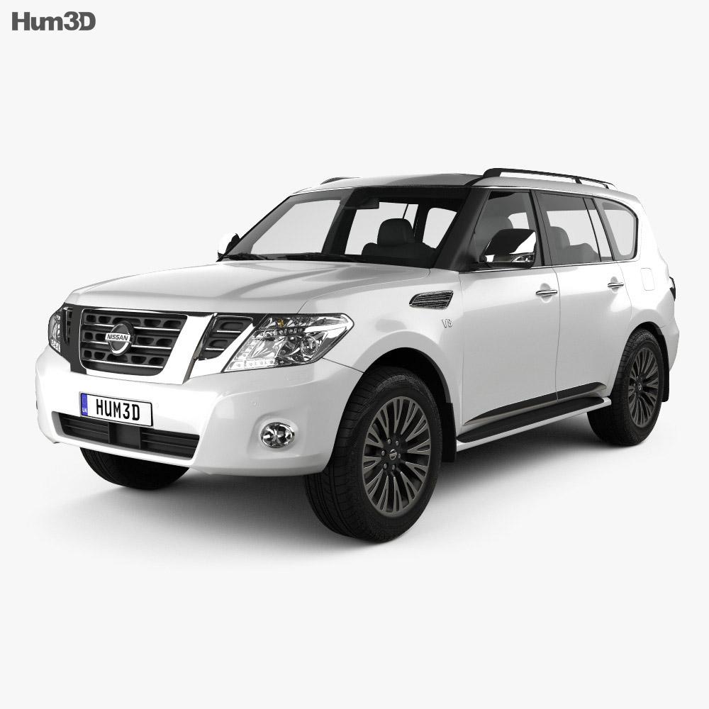 Nissan Patrol (AE) 2014 3d model