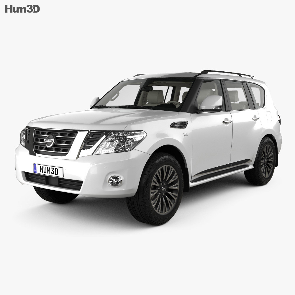 Nissan Patrol AE-spec with HQ interior 2014 3d model