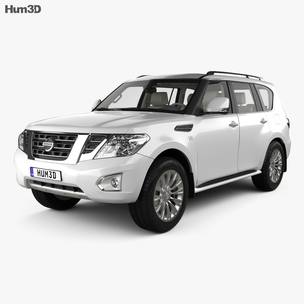 Nissan Patrol CIS-spec with HQ interior 2014 3d model