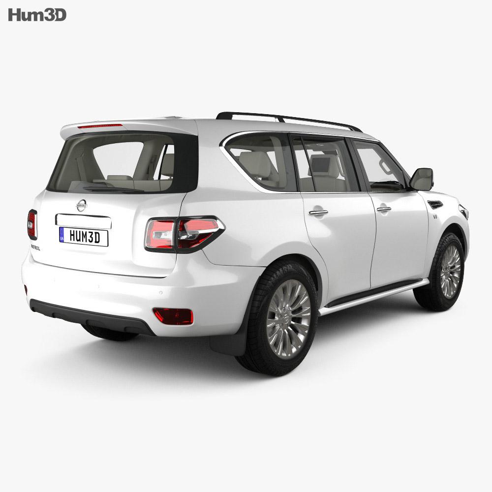 Nissan Patrol CIS-spec with HQ interior 2014 3d model
