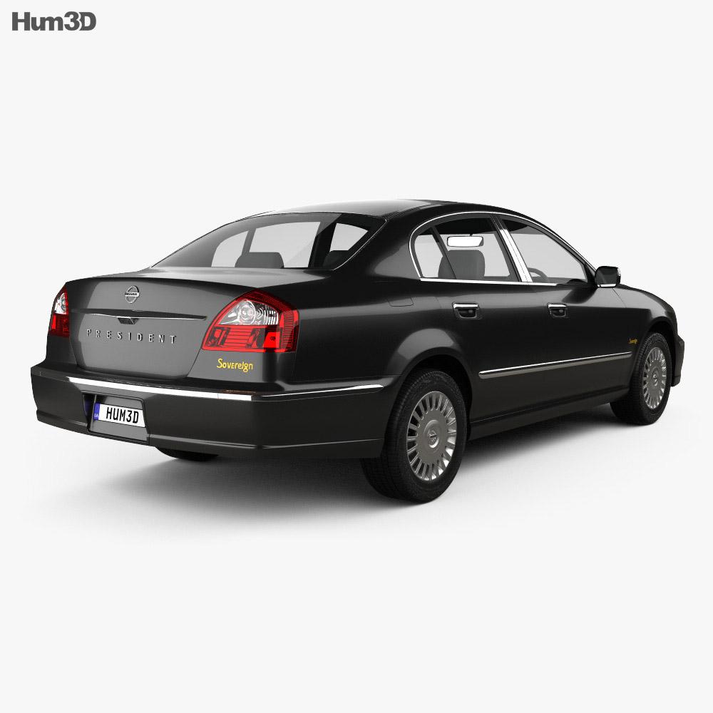 Nissan President 2003 3d model