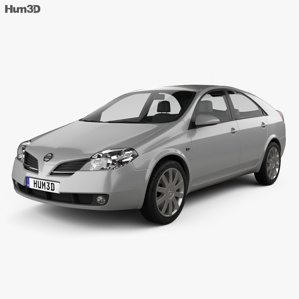 Nissan Primera hatchback 2002 3d model