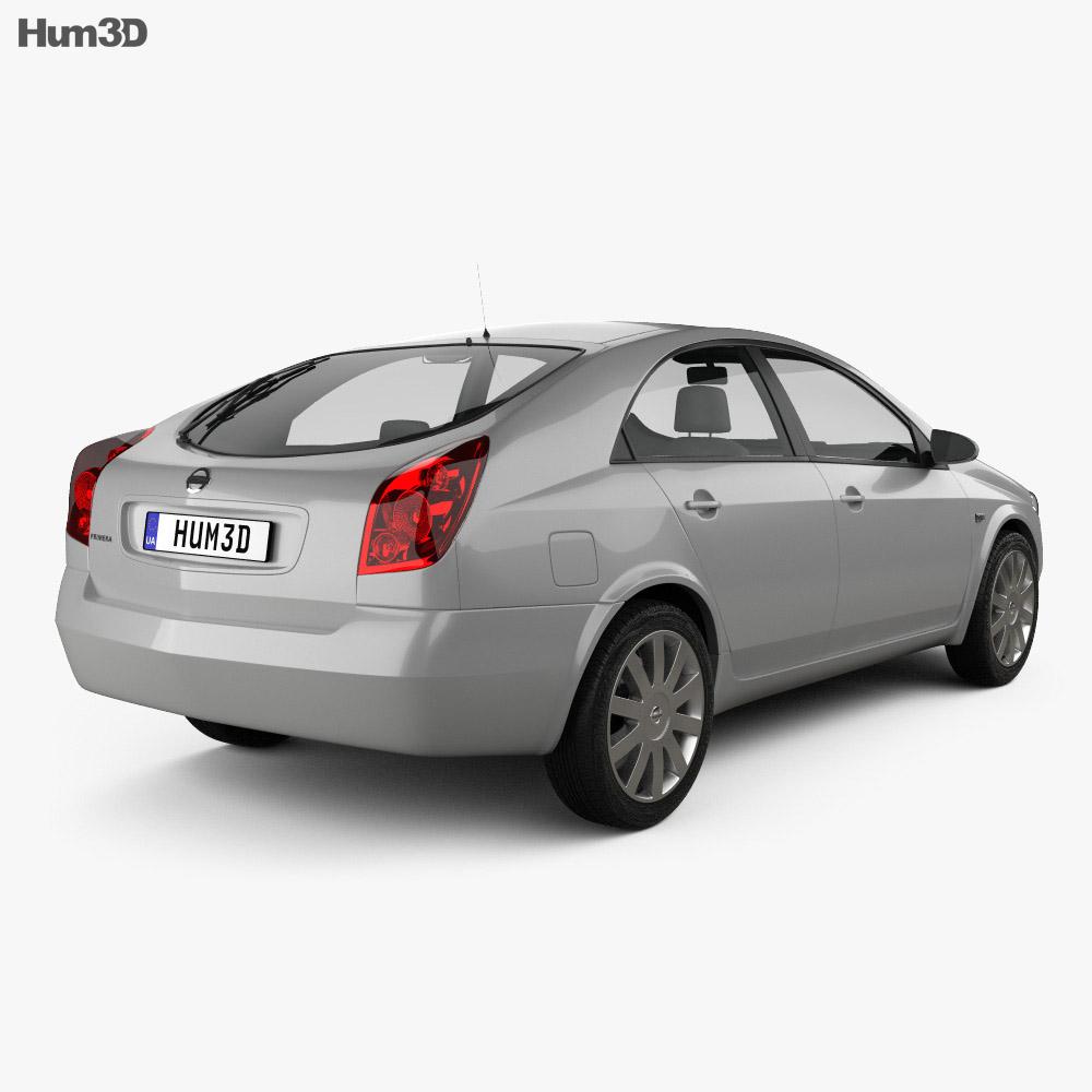 Nissan Primera hatchback 2002 3d model back view